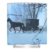 Amish Dreamscape Shower Curtain by David Arment