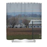 Amish Farm After Harvest Shower Curtain
