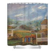 Amish Farm Shower Curtain