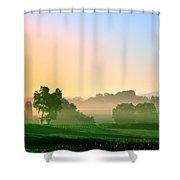 Amish Farm Sunrise Shower Curtain