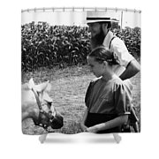 Amish Girl And Pony Shower Curtain