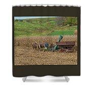 Amish Harvest In Ohio  Shower Curtain