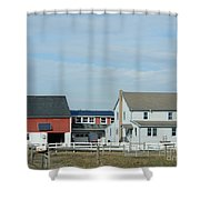 Amish Home At Harvest Shower Curtain
