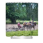 Amish Lady Disking Shower Curtain