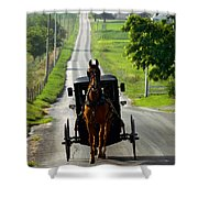 Amish Morning Commute Shower Curtain