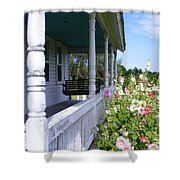 Amish Porch Shower Curtain by Ed Smith