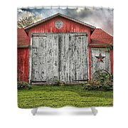 Amish Red Barn Shower Curtain