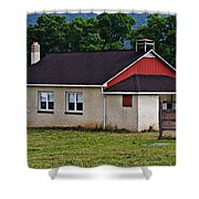 Amish School In Rote, Pa Shower Curtain