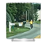 Amish Teacher Going To School Shower Curtain