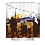 Amish Watching A Nuclear Reactor Go By 2 Shower Curtain