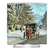 Amish Winter Shower Curtain by David Arment