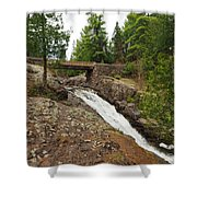 Amity Creek Falls Shower Curtain