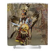 Pow Wow Among Friends Shower Curtain