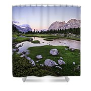 Among The Giants Shower Curtain