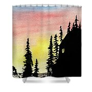 Among The Pines Shower Curtain