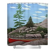 Among The Rocks II Shower Curtain