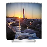 Among The Rocks Shower Curtain