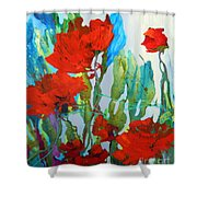 Among The Roses Shower Curtain