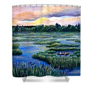 Amongst The Reeds Shower Curtain