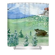 Amongst The Skies Shower Curtain