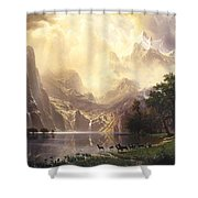 Among_the_sierra_nevada_mountains Shower Curtain