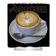 Amore Poster Shower Curtain