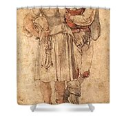 Amorous Peasants Shower Curtain