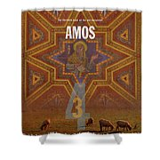 Amos Books Of The Bible Series Old Testament Minimal Poster Art Number 30 Shower Curtain