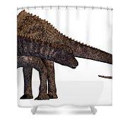 Ampelosaurus Armored Dinosaur Shower Curtain