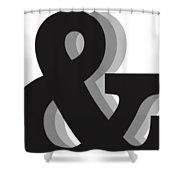 Ampersand - And Symbol 1 - Minimalist Print Shower Curtain