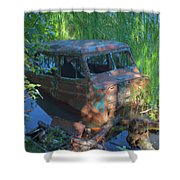 Amphibious Vehicle Shower Curtain