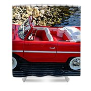 Amphicar Red  Shower Curtain