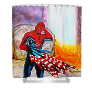 Ams 9/11 Tribute Illustration Edition Shower Curtain