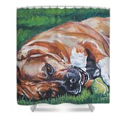 Amstaff With Ball Shower Curtain