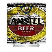 Amstel Beer Sign  Shower Curtain