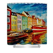 Amsterdam - City Dock Shower Curtain