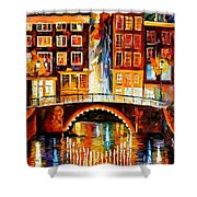 Amsterdam - Little Bridge Shower Curtain