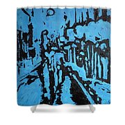 Amsterdam At Night Shower Curtain