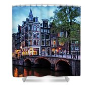 Amsterdam At Twilight Shower Curtain