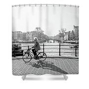Amsterdam Bike Ride Shower Curtain