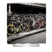 Amsterdam Bikes Shower Curtain