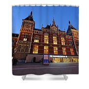 Amsterdam Central Station Shower Curtain