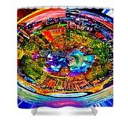 Amsterdam Frisbee Shower Curtain