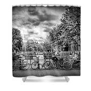 Amsterdam In Monochrome  Shower Curtain