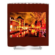 Amsterdam Night Life L A S Shower Curtain