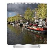 Amsterdam Prinsengracht Canal Shower Curtain