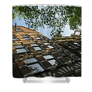 Amsterdam Spring - Fancy Brickwork Glow - Left Horizontal Shower Curtain