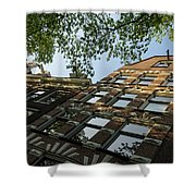 Amsterdam Spring - Fancy Brickwork Glow - Right Horizontal Shower Curtain