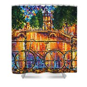 Amsterdam - The Bridge Of Bicycles  Shower Curtain