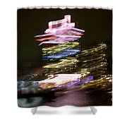 Amsterdam The Netherlands A'dam Tower Abstract At Night. Shower Curtain